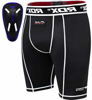 RDX Compression Shorts Leggings Knee Skin Tight Fit Gym Running Base Layer MMA
