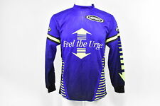Verge Men's Small  Feel the Urge BMX Long Sleeve Cycling Jersey, Blue/Green