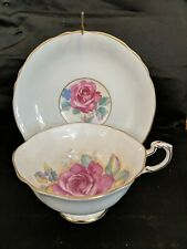 Paragon Teacup & Saucer - Floating Blue Cabbage Rose