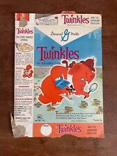 Vintage General Mills ~ Twinkles And The Unknown Creature ~Used 1960s Cereal Box