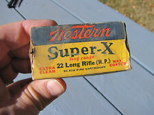 WESTERN SUPER-X LONG RANGE HOLLOW POINTS 22 EMPTY SHELL BOX HUNTING DECO