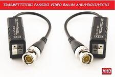 COPPIA VIDEO BALUN PASSIVO AMPLIFICATORE PER TELECAMERE HDCVI AHD HDTVI FULL HD