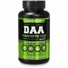 DAA D Aspartic Acid Supplement - Fortified with Astragin, 120 Veggie Capsules