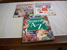 Book HC & 2 Magazines: Scrapcrafts A-Z&Simply Cross Stitch,Just CrossStitch  218