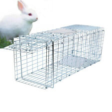 Metal Raccoon Skunk Poss Humane Pet Animal Trap Cage Rabbit Cat Puppy Live Trap