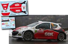 Decal 1:43 Daniel Oliveira - PEUGEOT 207 S2000 - Rally Montecarlo 2010
