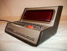 Vintage Spartus Digital Alarm Clock Retro Space Age Tested Works battery test