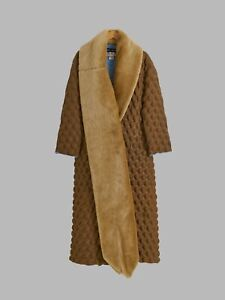 Issey Miyake AW2000 detachable faux fur collar 3D dome or egg carton coat S M L
