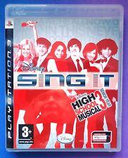 DISNEY SING IT HIGH SCHOOL MUSICAL 3 SENIOR YEAR PS3 SOLUS GAME brand new UK