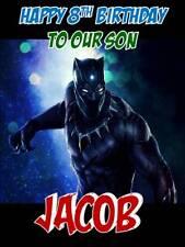 Personalised Black Panther Movie Birthday Greeting Card & Envelope 526