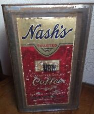 Vintage Nash's Coffee Co. 20 lb Advertising Tin Metal Can Urn Minneapolis Rare