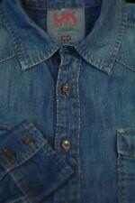 French Connection Men's Blue Denim Cotton Casual Shirt M Medium