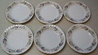 CREATIVE FINE CHINA 2345 REGENCY ROSE SET OF 6 BREAD / BUTTER PLATES  6 1/4 INCH