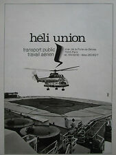 76-82 PUB HELICOPTERE PUMA HELI UNION TRANSPORT PUBLIC TRAVAIL AERIEN FRENCH AD