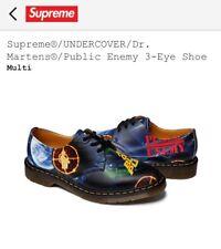 Supreme Undercover Dr. Martens x Public Enemy 3-Eye Men's Shoes Size 10