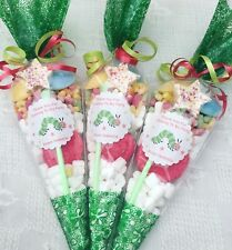 10X Hungry Caterpillar  Filled Sweet Party Cones Personalised + Free Sweety Bag