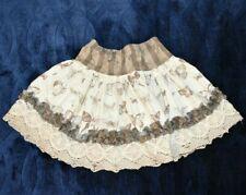 Persnickety Skirt 3t Butterfly Crochet Lace Ruffle Full Twirl Ivory Beige Gray