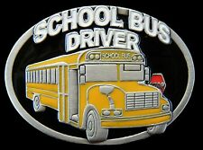 School Yellow Bus Belt Buckle Driver Buses Vehicle Boucle de Ceinture