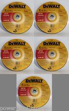 """Dewalt DW8447 9"""" x 1/4"""" x 7/8"""" Type 28 Metal Grinding Wheel Pack of 5"""