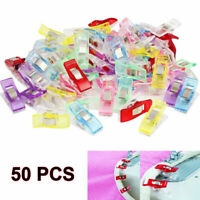 50/100PCS Pack Clover Clips for Crafts Quilting Sewing Knitting Crochet
