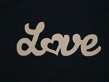 Love Wooden Script Words Decorative Letters Wall Door Plaque Sign Unpainted MDF