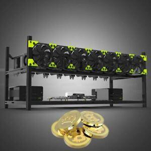 BTC Miner Case Server Rack 8 GPU Aluminum Stackable Mining Rig Open Air Frame
