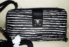 NWT The Sak Large Smart Phone Wristlet Wallet Crossbody Strap Black and White
