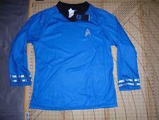 Mens Xlarge Blue/Black Star Trek Embroidered Logo Ls Shirt - Nwt