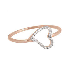Eternity Ring in 10k Rose Gold Studded with 0.06ct Diamonds