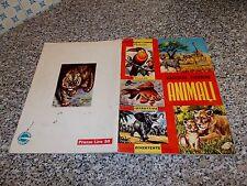 ALBUM ANIMALI ED.LAMPO 1964 COMPLETO OTTIMO TIPO PANINI EDIS FERRERO MIRA ARTE