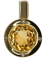 18Carat Yellow Gold Citrine Fine Necklaces & Pendants