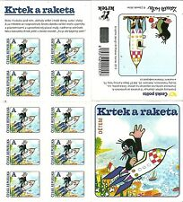 Czech - Little Mole and the Rocket 2013 stamp sheet new 10 sticker stamps unused