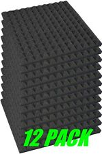 "1"" x 12"" x 12"" Charcoal Acoustic Pyramid Studio Foam 12 Pack"