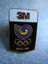 PINS VINTAGE SPORT SEOUL 88 3M JEUX OLYMPIQUES COREE DU SUD OLYMPIC GAMES wxc q