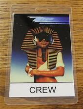 Vintage Genuine Zz Top Afterburner Tour 1985 Otto Laminated Backstage Pass Crew