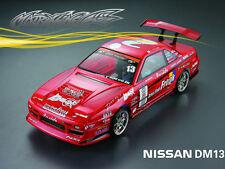 1/10 Nissan DM13 195mm RC Car Transparent Body Strong Polycarbonate 201203