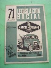 REVISTA - MAGAZINE BOLETIN DE LEGISLACION SOCIAL Nº 71