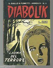 DIABOLIK ORIGINALE ANNO XIV  n°  5 -  1975  - RARO  - [ rif DK TO ]