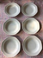 "New listing Schirndinc Bavaria 238 Octagon White 8"" Salad Soup Bowl Set of 6"