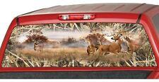 Whitetail Buck Skull Tallgrass Camo Rear Window Graphics Decals Truck Wrap