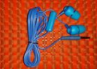 JVC HA-FR37 BLUE Marshmallow Earbud with Remote.