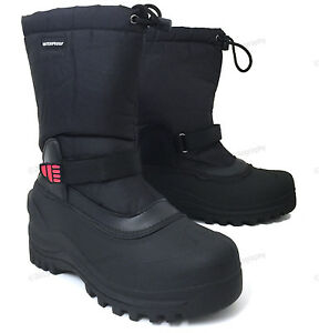 Brand New Mens Winter Boots Nylon Insulated Waterproof Thermolite Ski Snow Shoes