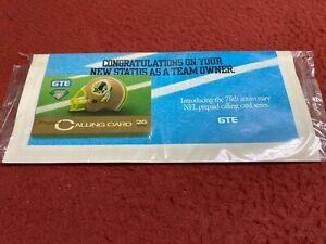 WASHINGTON REDSKINS 75TH ANNIVERSARY GTE PHONE CALLING CARD IN SEALED PACKAGE