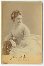 RARE OPERA VAUDEVILLE THEATER ACTRESS: Cabinet Card of Opera Star Julia Wills