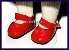 RED Patent Mary Jane SHOES fit MINI AMERICAN GIRL & Pukifee FREE U.S.SHIPPING