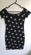Forever 21 Black Floral Off-The-Shoulder Dress