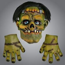 Halloween Zombie Frankenstein Latex Face Mask Gloves Fancy Dress Party Costume