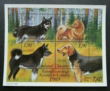 Finland 100 Years Union of Finnish Dog Breeders 1989 Pet (miniature sheet) MNH