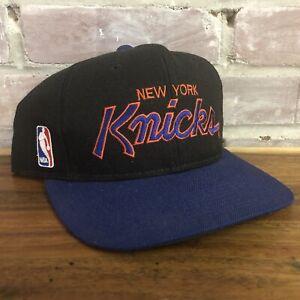Vtg New York Knicks Hat Cap Snapback Sports Specialties Youngan Black Purple 90s