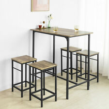 SoBuy Industrial Kitchen Breakfast Bar Dining Set-1Table and 4Stools OGT11-XL,UK